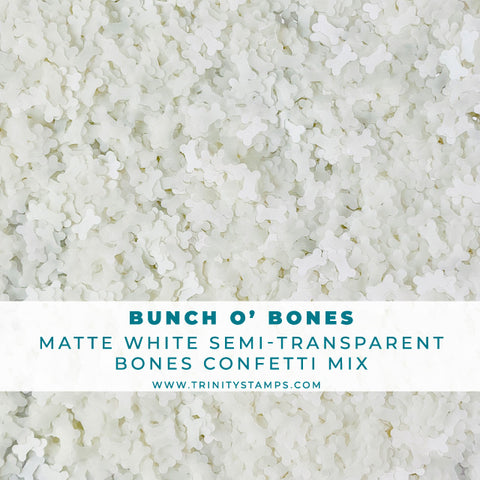 Bunch O' Bones - Confetti Bone Embellishment Mix
