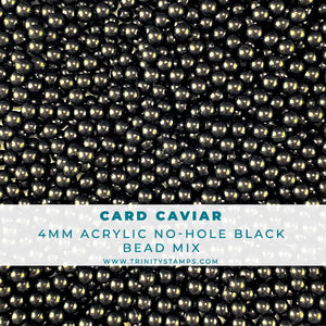 Card Caviar - 4mm Black Acrylic Embellishment Mix