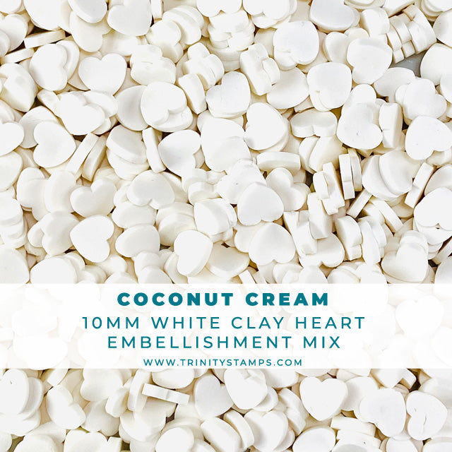 Coconut Cream - 10 mm Clay Sprinkles Embellishment Mix