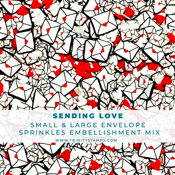 Sending Love - Clay Envelope Sprinkles Embellishment Mix