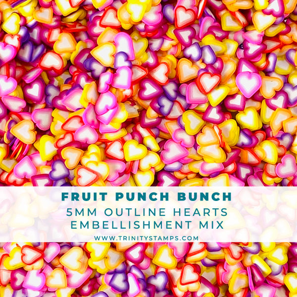 Fruit Punch Bunch- Clay Sprinkles Embellishment Mix