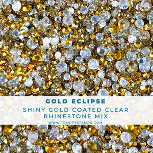Gold Eclipse - Flat-back Rhinestone Mix