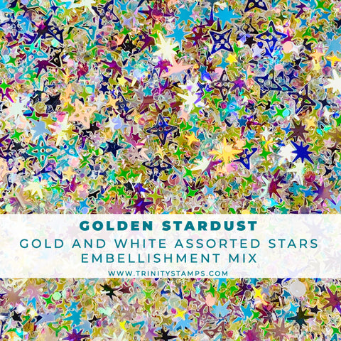 Golden Stardust - Mixed Star Embellishment Mix