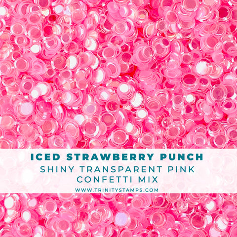 Iced Strawberry Punch Confetti Embellishment Mix