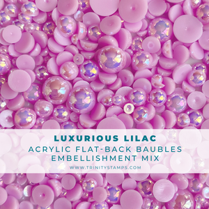 Luxurious Lilac Baubles Embellishment Mix