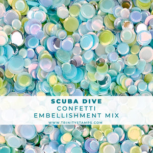 Scuba Dive Confetti Embellishment Mix