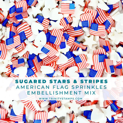 Sugared Stars & Stripes - Clay Sprinkles Mix