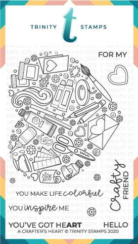 4x6 A Crafters Heart Clear Photopolymer Stamp Set