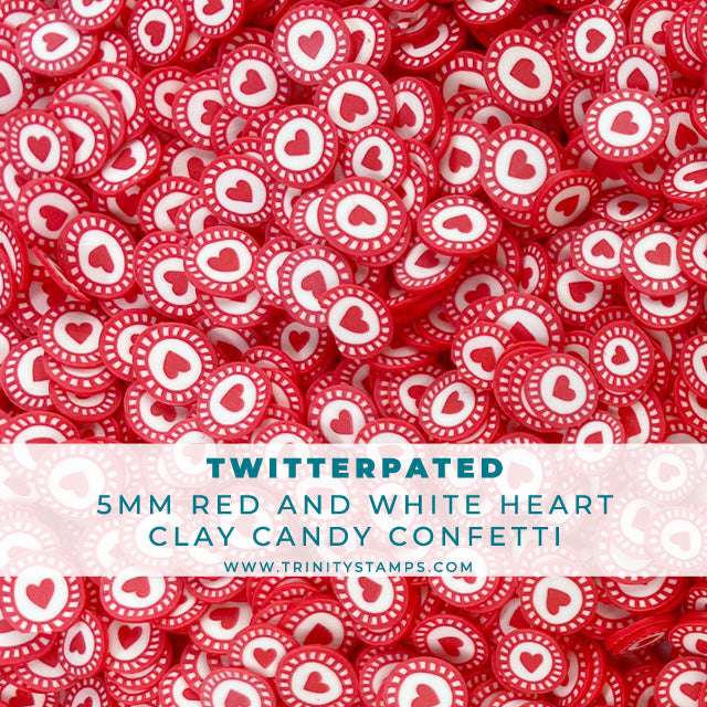 Twitterpated - 5mm Red Heart Candy Sprinkles