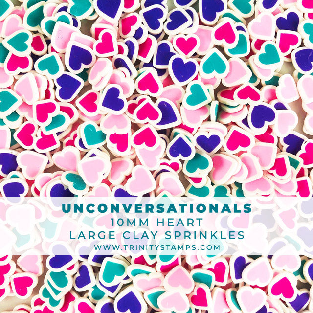 Unconversationals- 10mm Clay Heart Sprinkles Mix