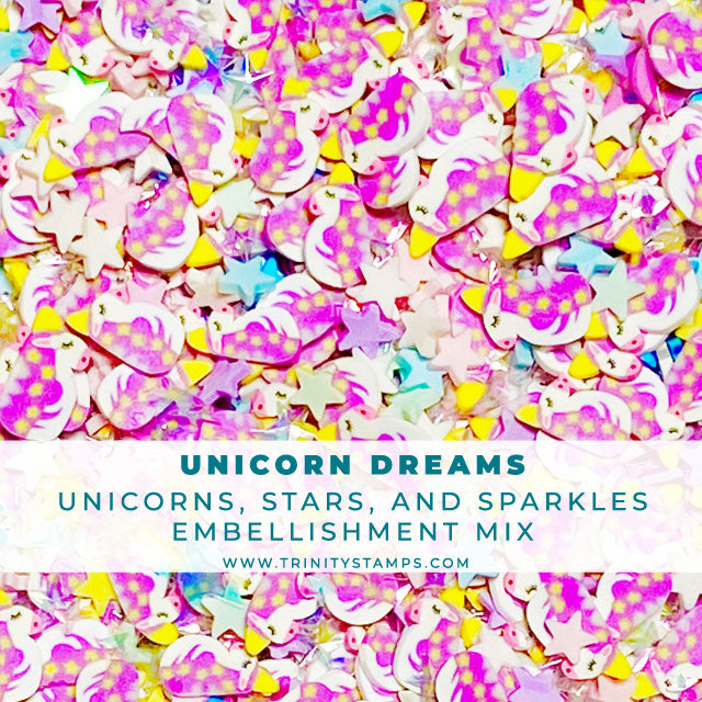 Unicorn Dreams - Clay Sprinkles Embellishment Mix