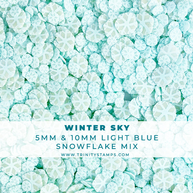 Winter Sky - Light Blue Snowflake Sprinkles