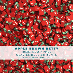 Apple Brown Betty - Large Red Apple Sprinkles
