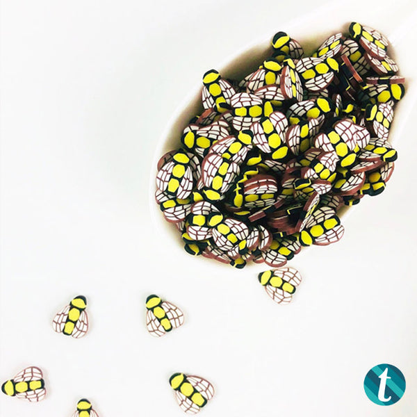 BEE-lieve - 10mm Bumble Bee Clay Sprinkles