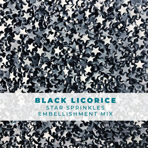 Black Licorice Star Sprinkle Mix