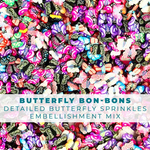 Butterfly Bon-Bon's - Butterfly Shaped Embellishment Mix