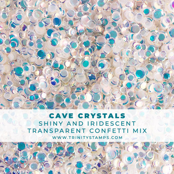 Cave Crystals- Iridescent Glossy Transparent Confetti Mix