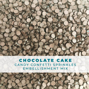 Chocolate Cake Candy Confetti Embellishments