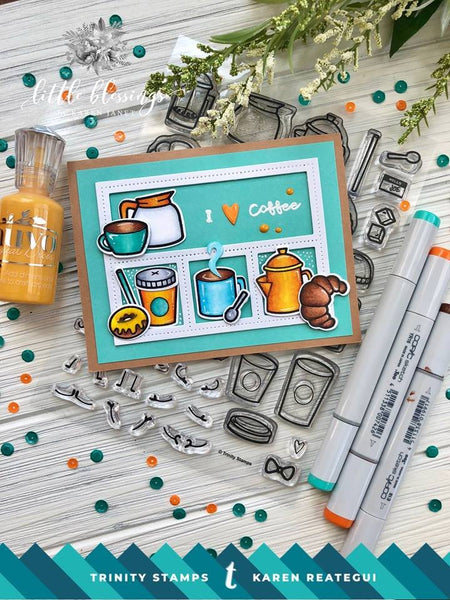 Coffee with Character Coordinating Die Set