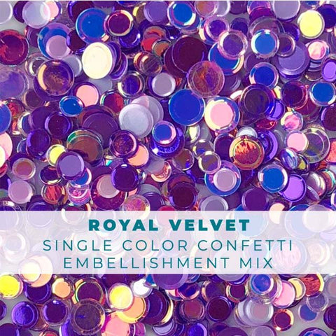 Royal Velvet Confetti Mix