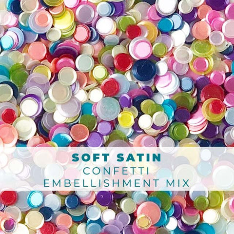 Soft Satin Confetti Mix