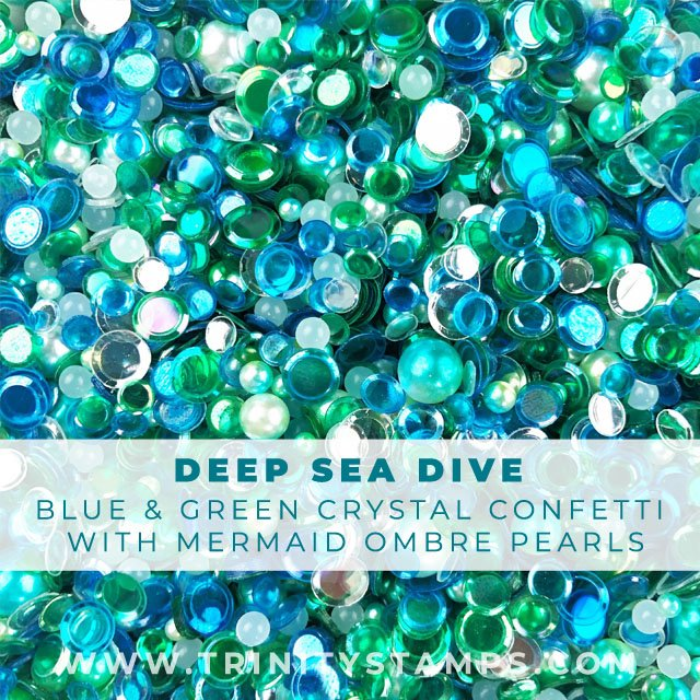 Deep Sea Dive: A Blue Green Confetti and Ombre Pearl Mix