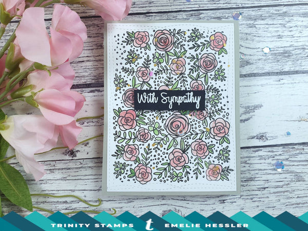 4x6 Floral Cross Stamp Set