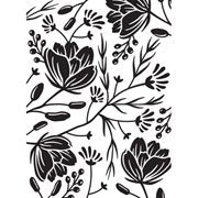 Flower Pod Background Embossing Folder