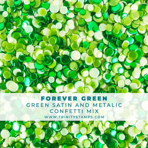 Forever Green - Satin and Metallic Green Confetti Mix