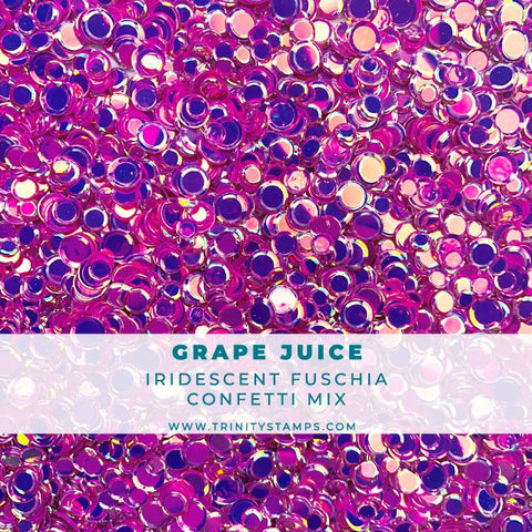 Grape Juice Iridescent Confetti Mix