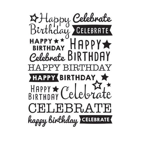 Scattered Happy Birthday Embossing Folder