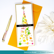 6x9 Tree of Lights Layering Stencil Set of 2