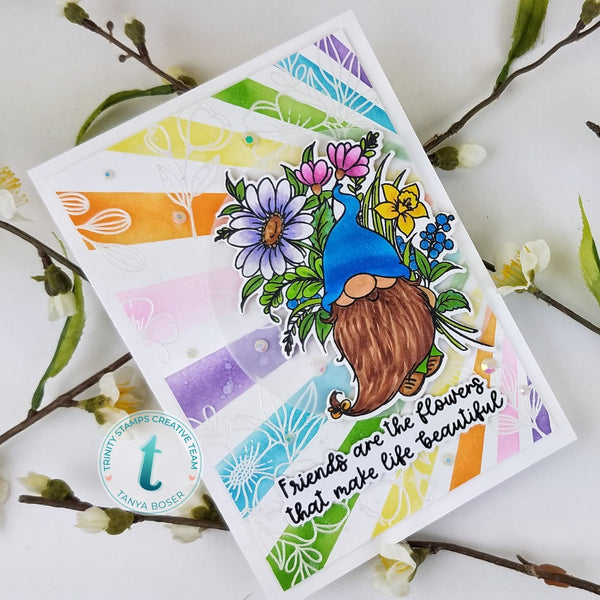 Friends are Flowers 4x6 Stamp Set