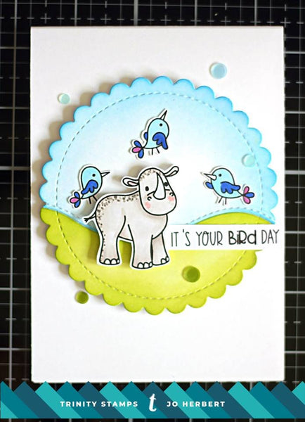 Rhino Bird Day 4x6 Stamp Set