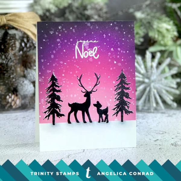 Season Greetings Silhouettes 4x6 Stamp Set