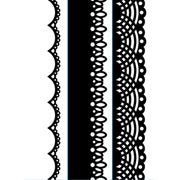 Set of 3 Lace borders embossing folders