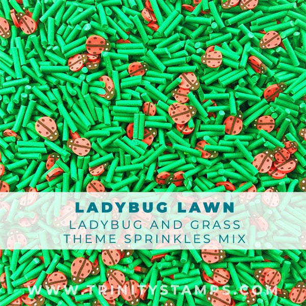 Ladybug Lawn: Ladybugs and Long Green Sprinkle Mix