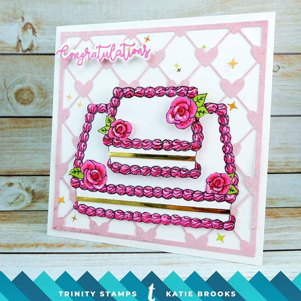 Decorate-a-Cake 4x6 Stamp Set