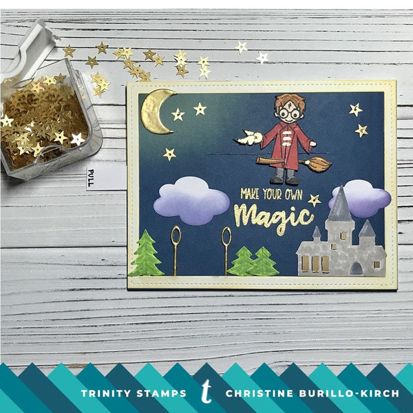 4x6 Magical Wizards Stamp Set