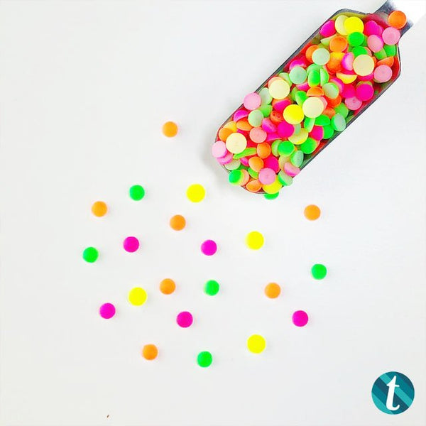 Neon Lights: Brightly colored Matte Acrylic Drop Mix