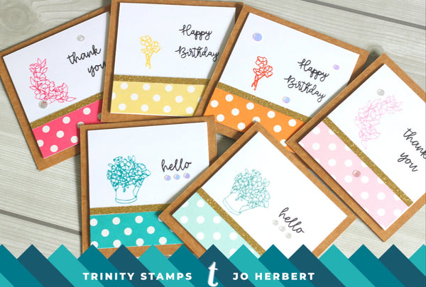 Hopeful Flowers 3x4 Stamp Set