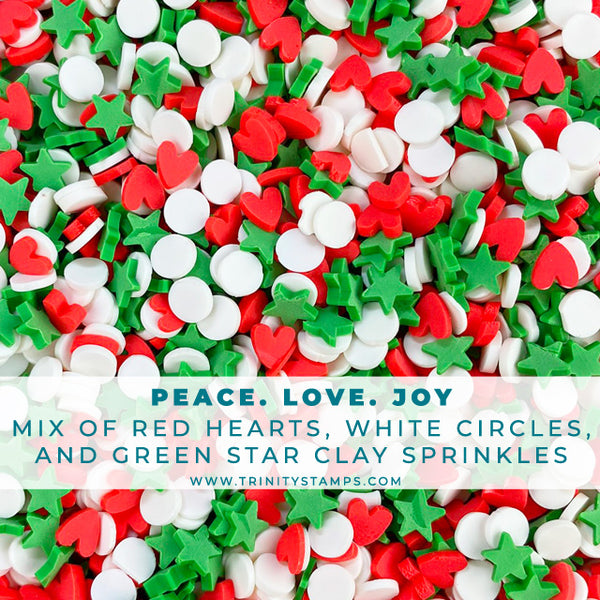 Peace Love & Joy Holiday Sprinkles Embellishment