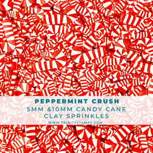 Peppermint Crush - Candy Cane Sprinkles Mix