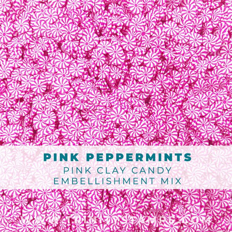 Pink Peppermints: small candy sprinkle embellishments