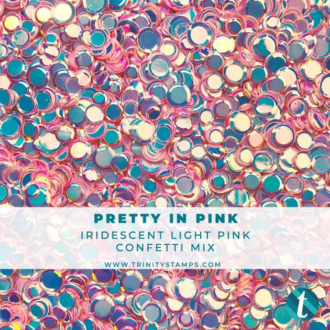 Pretty in Pink Iridescent Confetti Mix