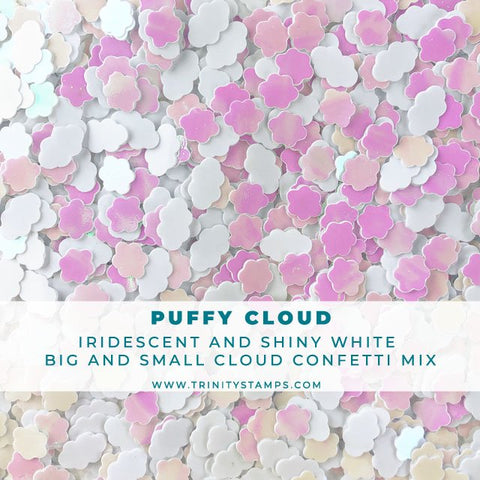 Puffy Cloud: Iridescent and Matte Cloud Confetti Mix