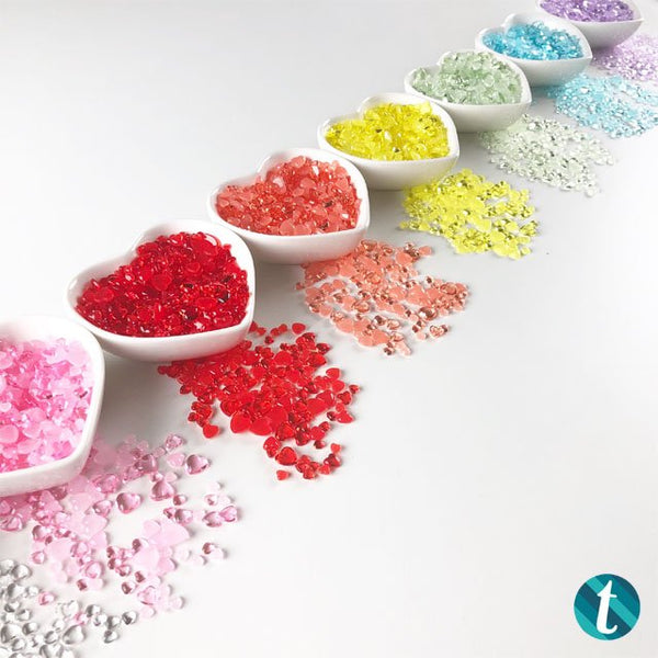 Boiled Sugar - Jelly Drop Hearts Embellishment mix