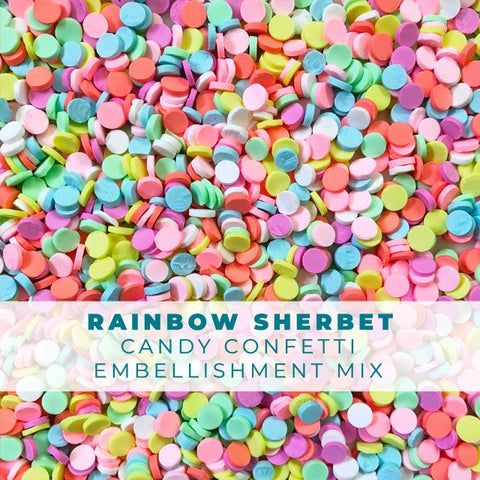 Rainbow Sherbet Candy Confetti Sprinkles