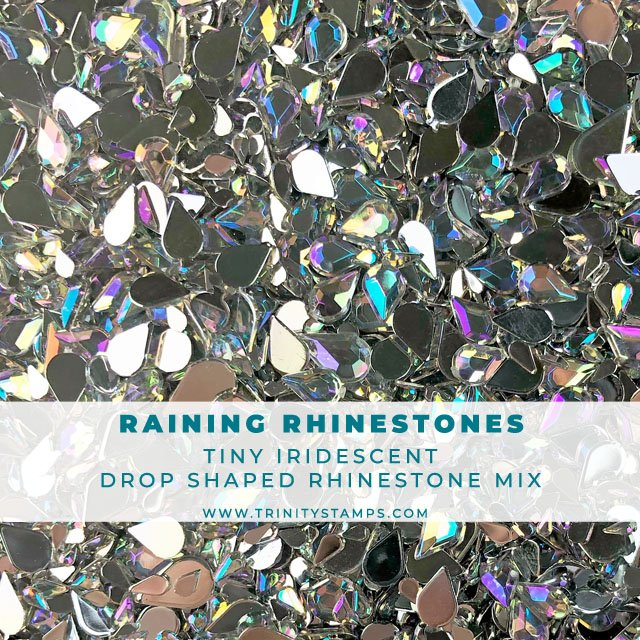 Raining Rhinestones -  Rainbow Crystal Drop Shape Rhinestone Mix