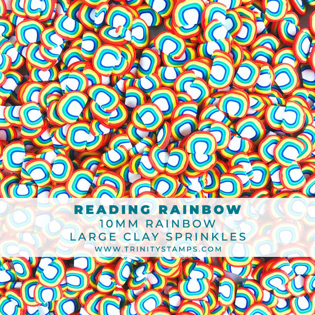 Reading Rainbow- 10mm Clay Rainbow Sprinkles